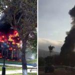 Chorrillos: un incendio afectó área de juegos en el parque Fátima