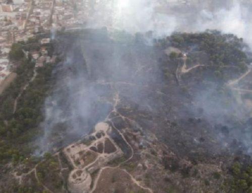 Estabilizado el incendio forestal en Oliva, con riesgo de afectar a población y bienes no forestales